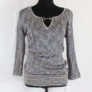 INC Sparkly Herringbone Sweater